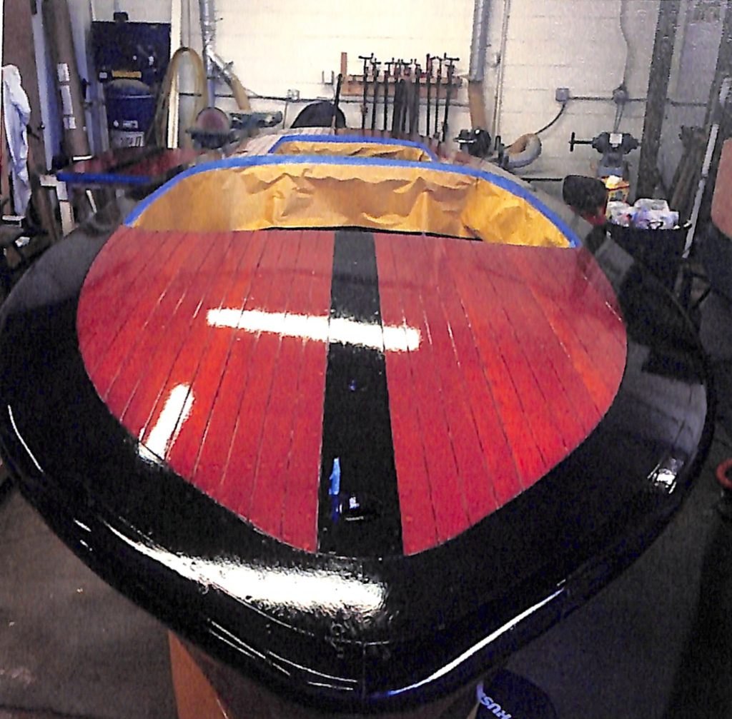 41 First full coat of varnish for the deluxe deluxe 7-21-15